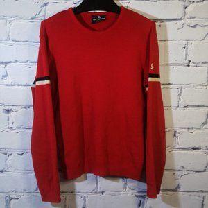 VTG Virgin Wool Pullover Sweater Crewneck Striped Made USA